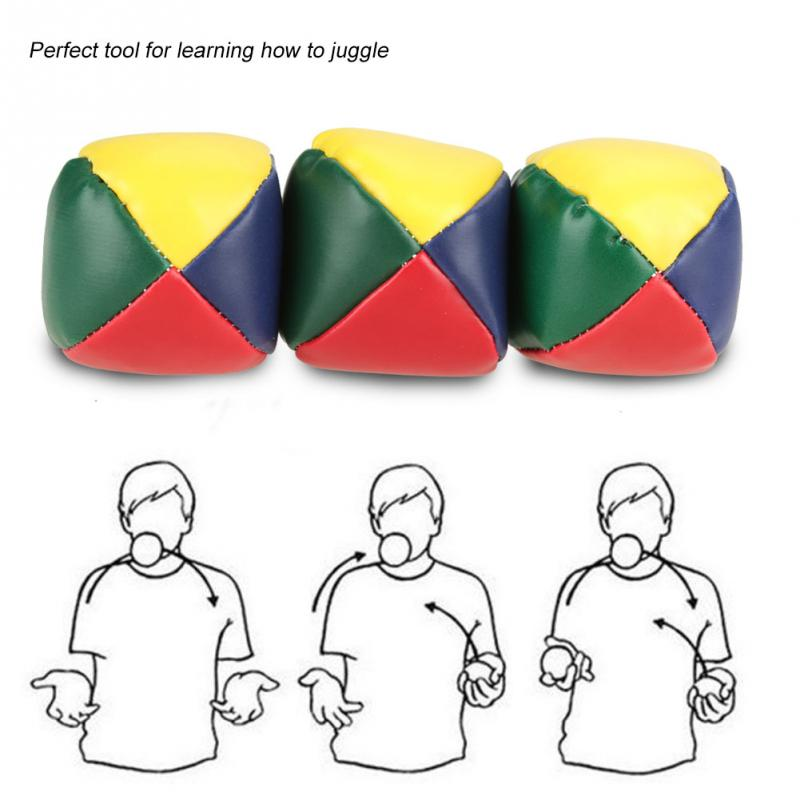 3Pcs/lot JUGGLING BALLS Learn to Juggle Beginner Kit Circus Outdoor Fun Kids Toy Balls Kids Interactive Toys for Children Gift