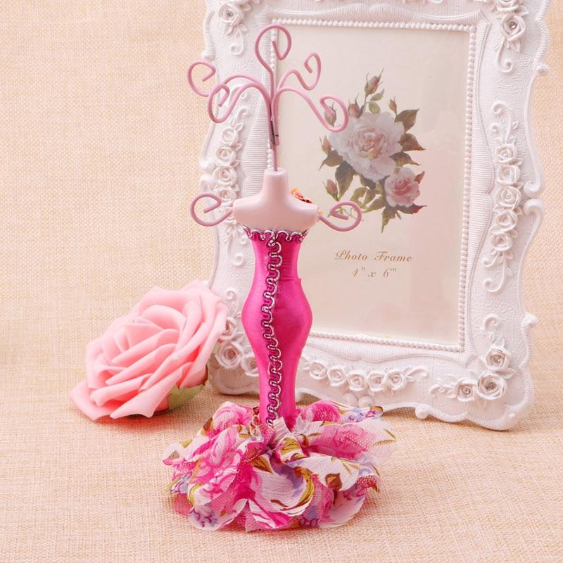 מחזיק בובת גברת עגיל צמיד שרשרת צמיד תכשיטי דוכן תצוגה