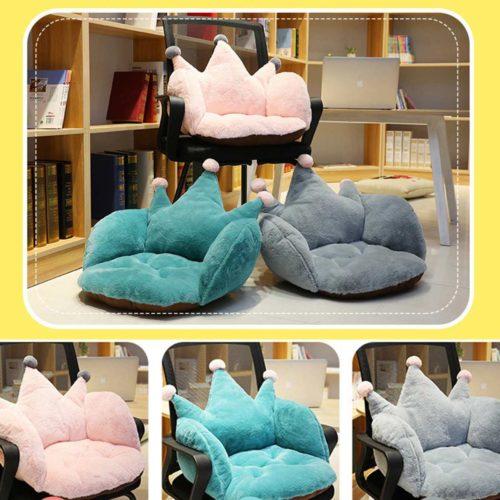 Crown Seat Plush Chair Cushion