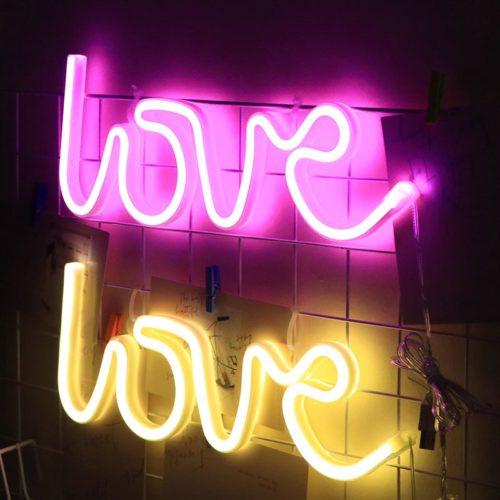 Love Neon Light LED Sign Lamp