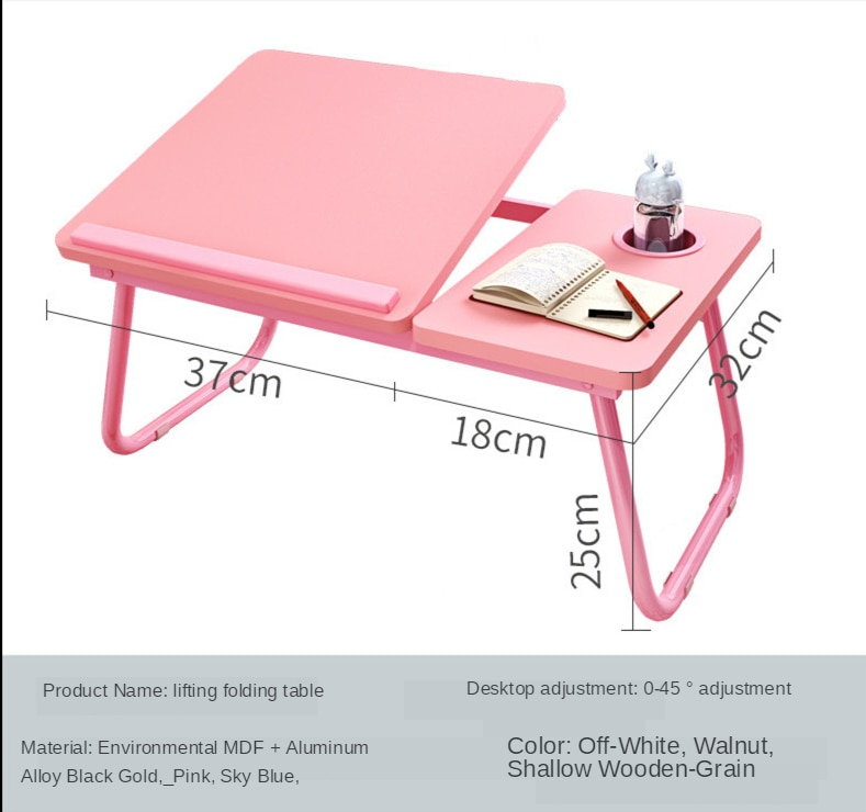 Laptop Table Simple Computer Desk With Fan For Bed Sofa Folding Adjustable Laptop Desk On The Bed