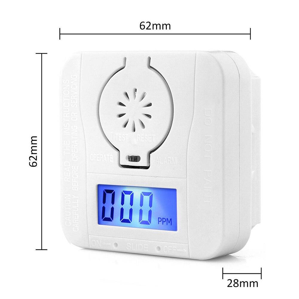 ANPWOO Sensor Carbon LCD Carbon Monoxide Detector Digital Warning Smoke Alarm Battery Power Detector Alarm Security Alarm
