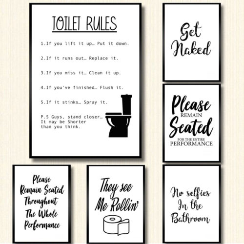 Funny Toilet Sign Wall Decor