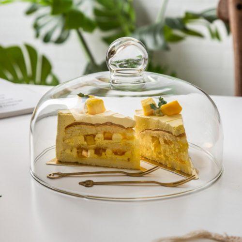 Glass Cake Cover Transparent Lid