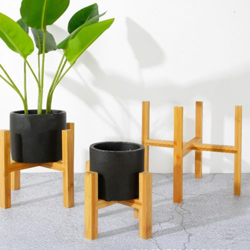 Wood Pot Stand House Plant Holder