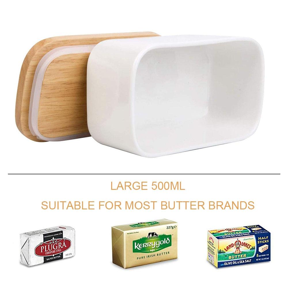 תיבת חמאה משולשת נורדית עם מכסה סכין קרמיקה מיכל מיכל מזון מגש תיבת מיכל אחסון צלחת שטוחה