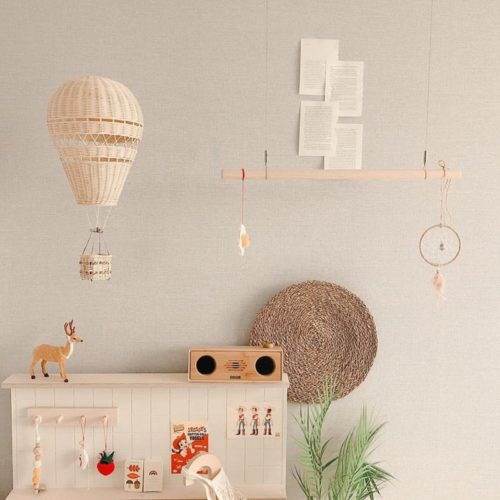 Hot Air Balloon Decor Rattan Ornament