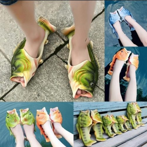 Bass Slippers Funny Fish Footwear