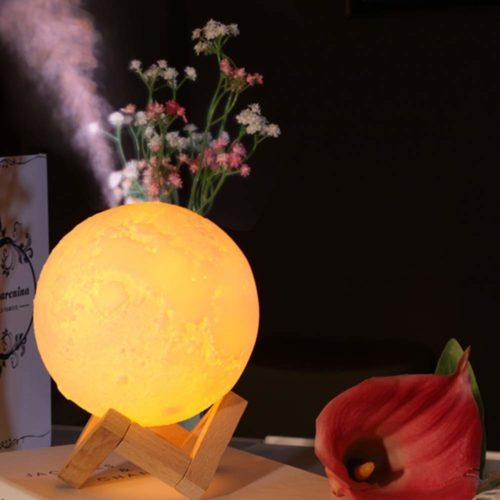 Moon Humidifier Night Light Decor