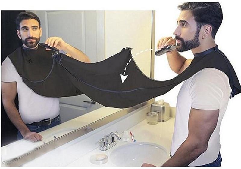 Waterproof Apron Man Bathroom Male Beard Haircut Apron Razor Holder Hair Shave Beard Catcher Cloth Household Cleaning Protector