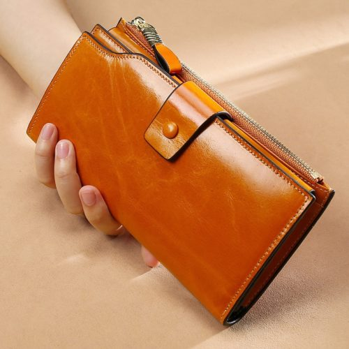 Long Wallet For Ladies Leather Purse