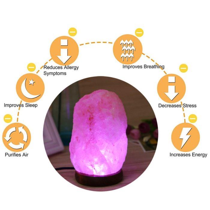 Sea Salt Lamp LED Air Purifier