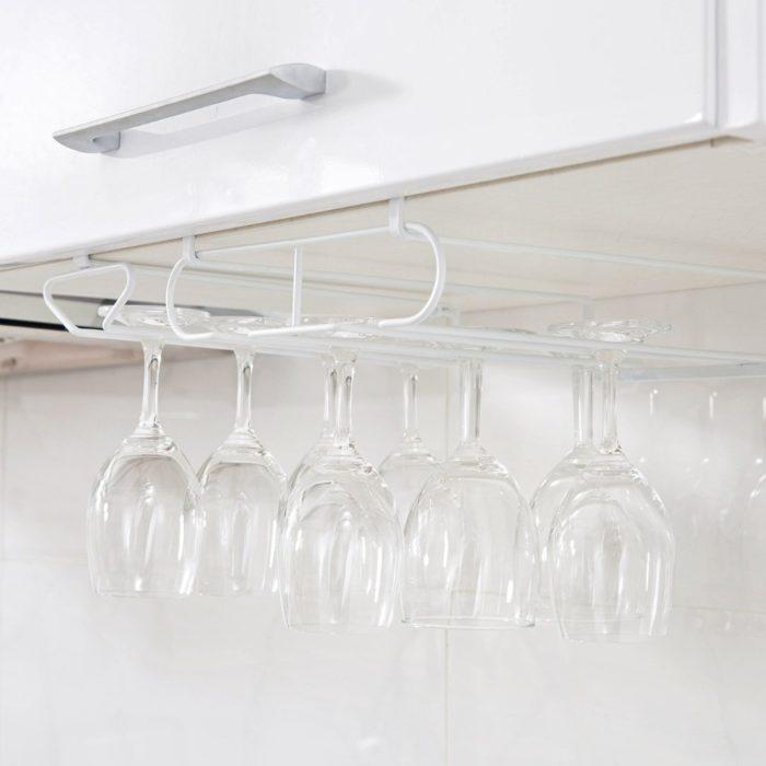 Under Cabinet Wine Glass Hanger