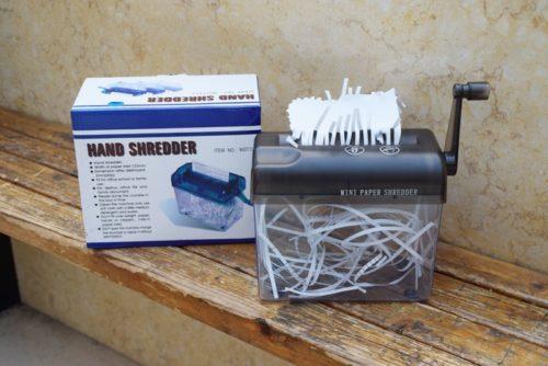 Mini Paper Shredder Manual Paper Cutter