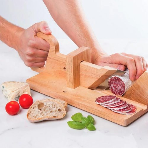 Sausage Slicer Manual Wooden Cutter