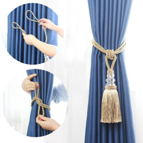 Rope Curtain Tie Backs with Tassel