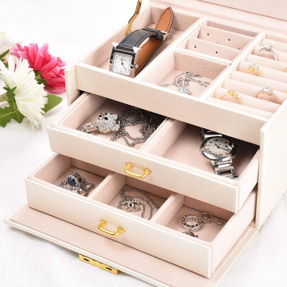 Leather Jewelry Case Durable Organizer