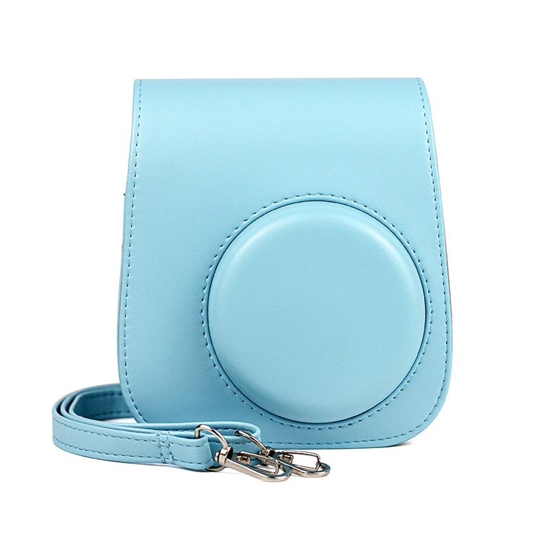 For Fujifilm Instax Mini 11 Instant Film Camera PU Leather Bag Case Cover Shell with Shoulder Bag Protector Cover Case Pouch