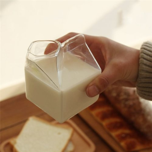 Reusable Milk Carton Clear Jug