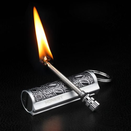 Reusable Match Lighter Key Chain