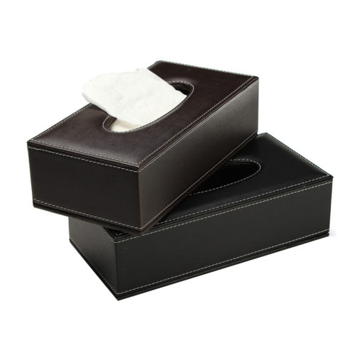 Leather Tissue Box Cover Napkin Holder