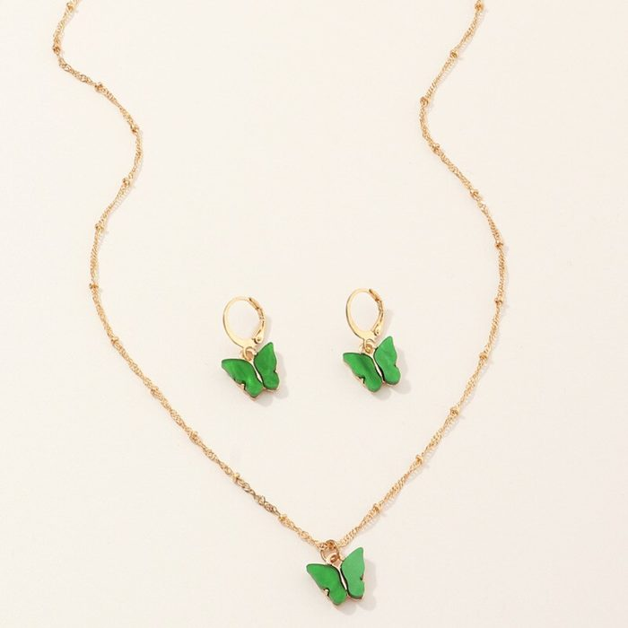 Butterfly Jewelry Set Trendy Accessories