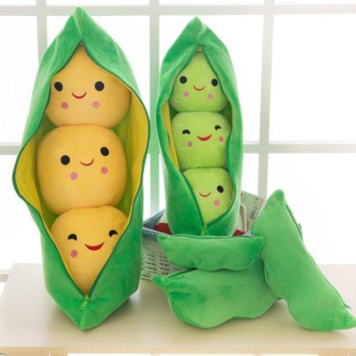 Peas in a Pod Plush Cotton Pillow Toy