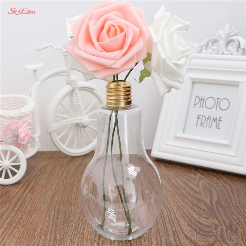New High quality Innovative Light Bulb Fruit Juice Bottles Portable Cute Juicer Milk Water Bottle colorful Drink-ware for gift9z