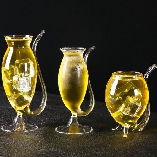 Straw Wine Glass Drinkware