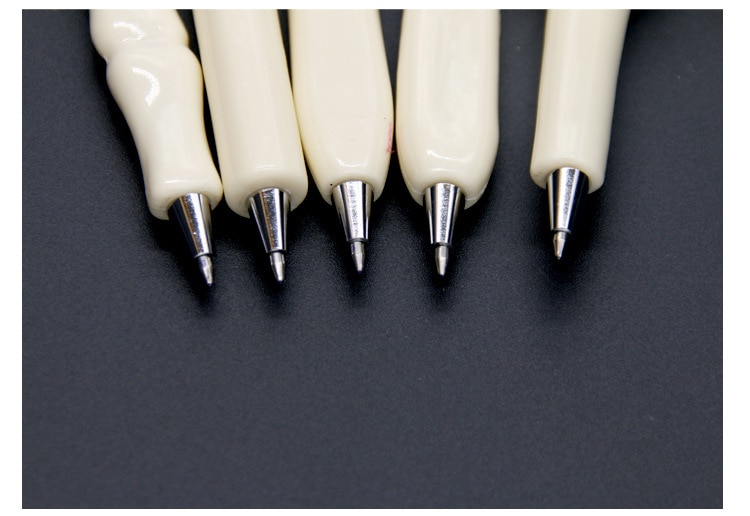 5 pcs/lot Novelty Bone Shape Ballpoint Pen 0.7mm Ink Refill Writing Ball Pens School Office Stationery Gifts Supplies