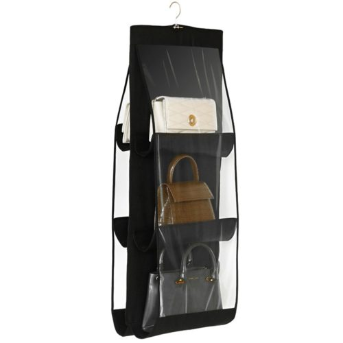Hanging Purse Organizer 6 Pocket Storage