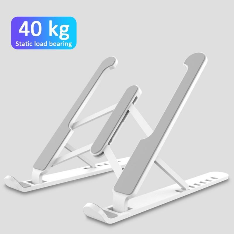 Adjustable ABS Laptop Holder Stand Folding Portable Pink Holder for Notebook Computer Bracket Holder Non-slip