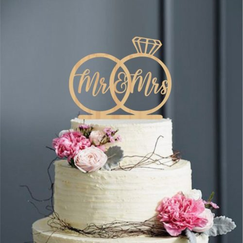 Mr and Mrs Cake Topper Cake Decor
