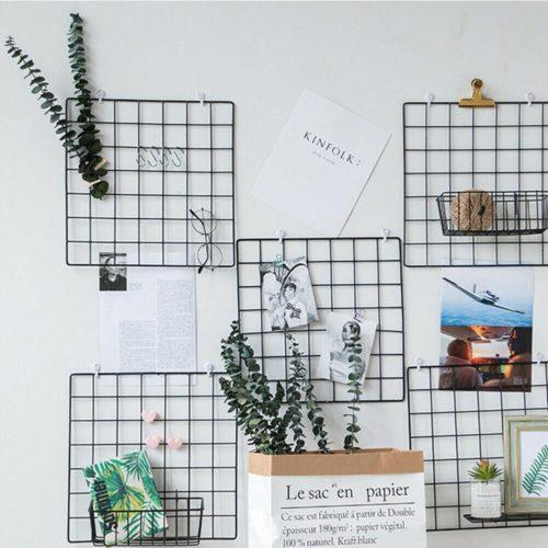 Wall Grid Organizer Metal Frame