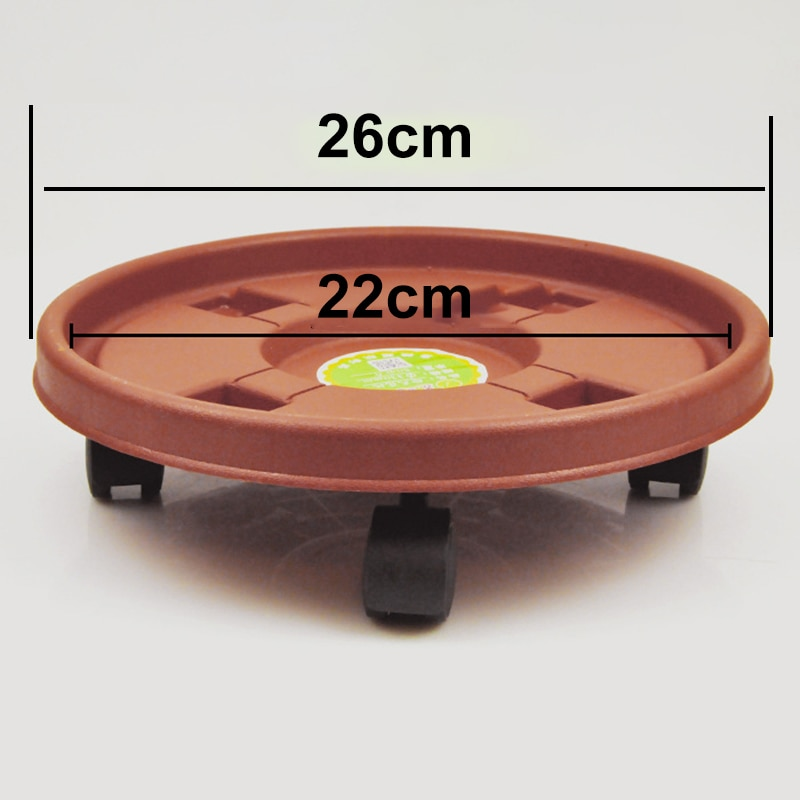 Stojak Na Kwiaty Plant Flower Pot Tray Stand Round Wheel Removable Resin Garden Plate Round Wheel Plant Stand Bandejas Tepsi