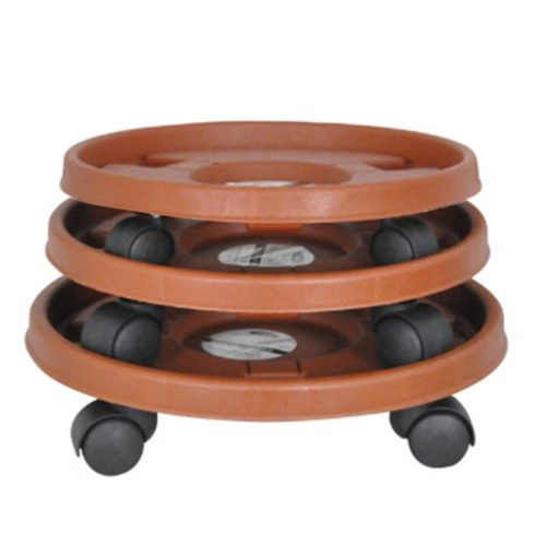 Plant Caddy Garden Plate with Wheels