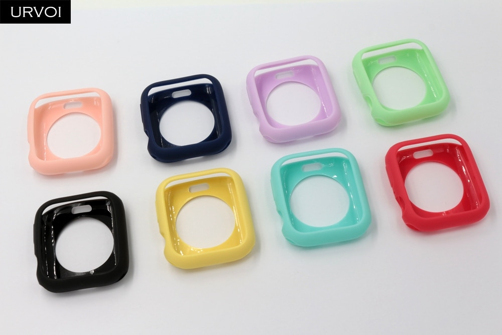 URVOI Candy TPU case for apple watch series 6 SE 5 4 3 2 1 colorful cover protector for iWatch 38 42 40 44mm Ultra-thin frame