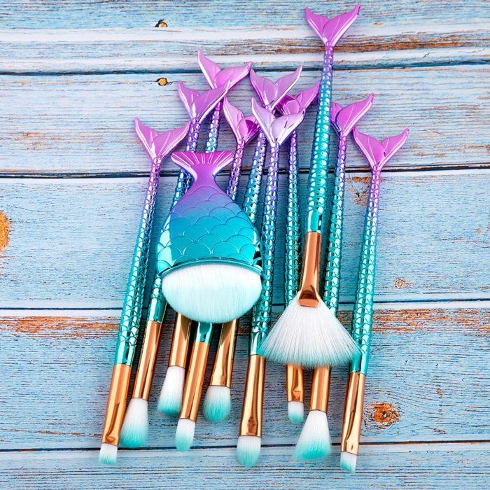 Mermaid Makeup Brush Set Kit