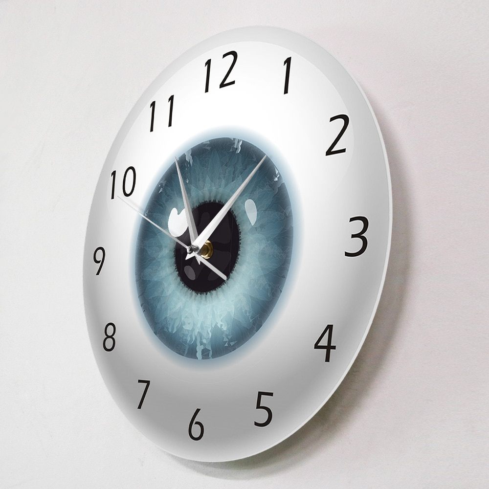 The Eye Eyeball Pupil Core Sight View Ophthalmology Silent Wall Clock All Seeing Human Body Anatomy Novelty Wall Watch Gift