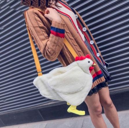 Chicken Bag Plush Sling Bag