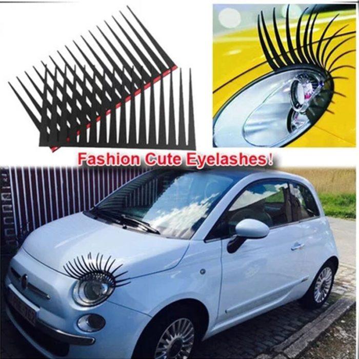Car Headlight Eyelashes 3D Decal (2pcs)