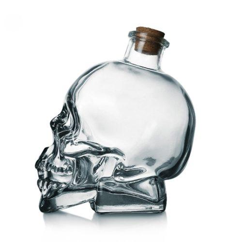 Skull Whiskey Bottle Liquor Container
