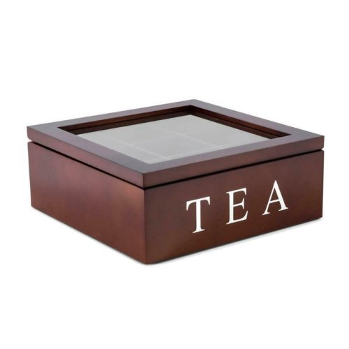 Tea Organizer Box Wooden Case