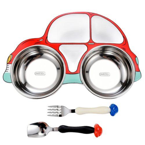 Kids Dinnerware Set Car Design