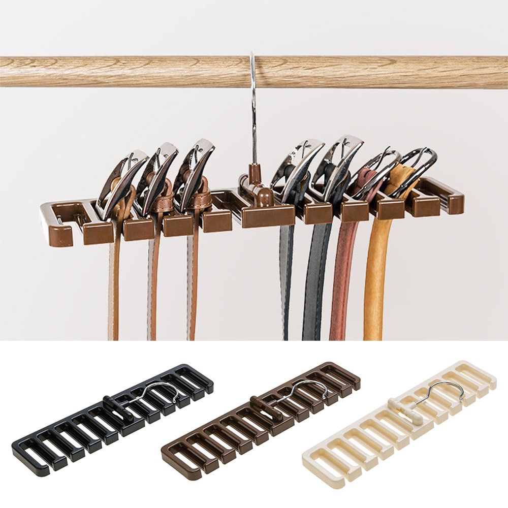 Large Belt Storage Rack Hanging Tie Shelf Silk Scarf Rack Belt Rack Hanger Finishing Tie Wardrobe Closet Organizer Holder 1pc
