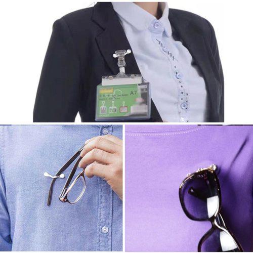 Magnetic Glasses Holder Clothes Clip