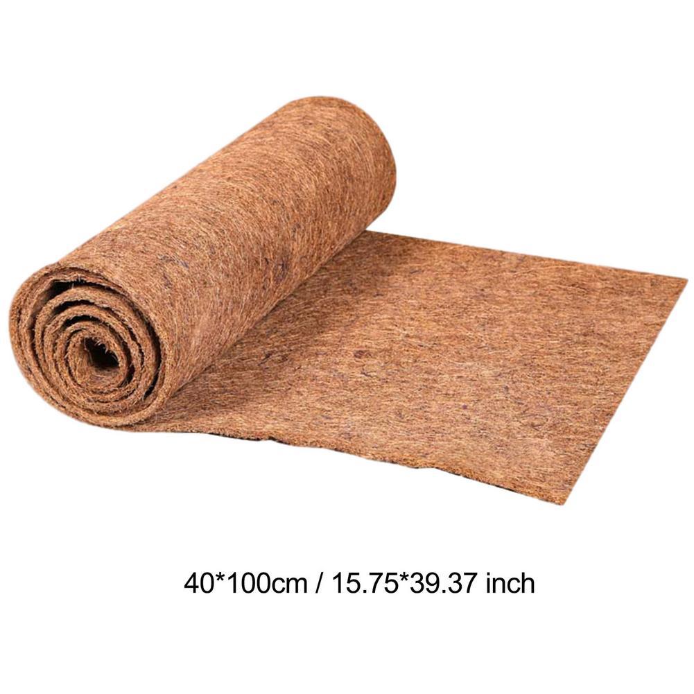 60x100cm Natural Coconut Palm Fiber Coco Liner Bulk Roll Mat Carpet Flower Basket Flowerpot Wall Basket Pet Reptile Carpet