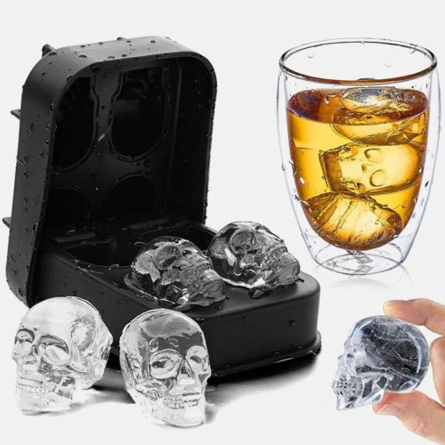 Skull Ice Tray 3D Silicone Mold