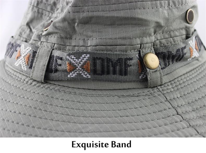 Waterproof Bucket Hat Summer Men Women Boonie Hat Outdoor UV Protection Wide Brim Panama Safari Hunting Hiking Fishing Sun Hat