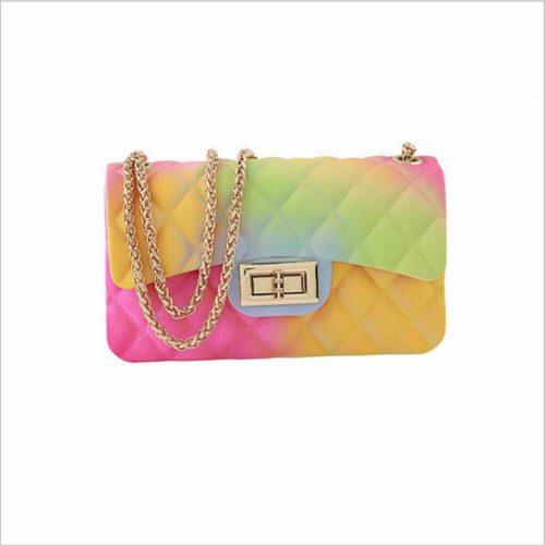 Ladies Rainbow Jelly Purse